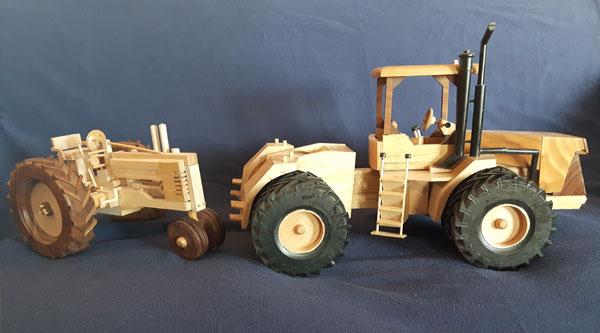 Handcrafted Wooden Tractors Banquet Donation